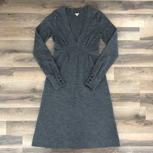 J Crew Wool Long Sleeve Sweater Dress